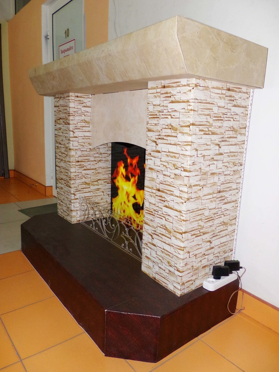 Камин из коробок своими руками (пошаговая инструкция) - Уютка 48
