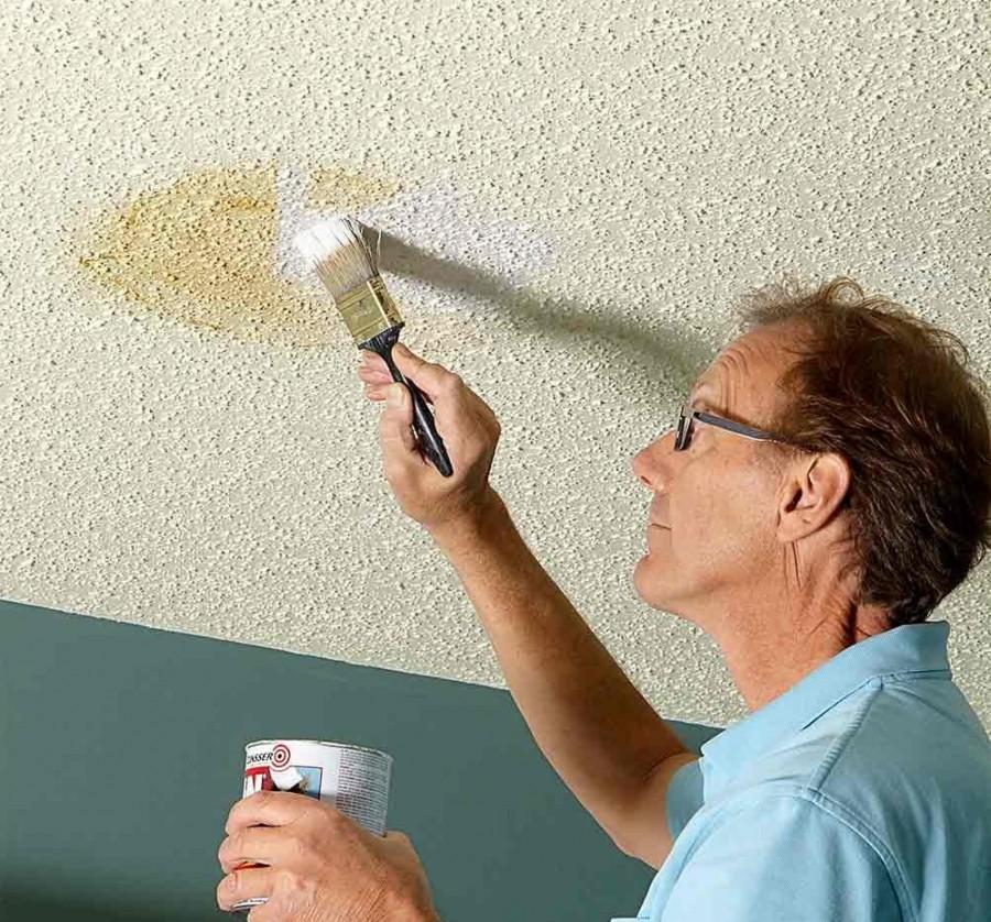 малярные способы декорирования потолка фото шатров