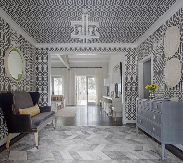 Обои на потолок — популярные модели, особенности поклейки и правила выбора материала (115 фото)