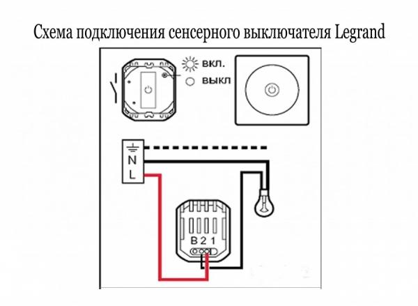 Выключатель на свет монтаж схема