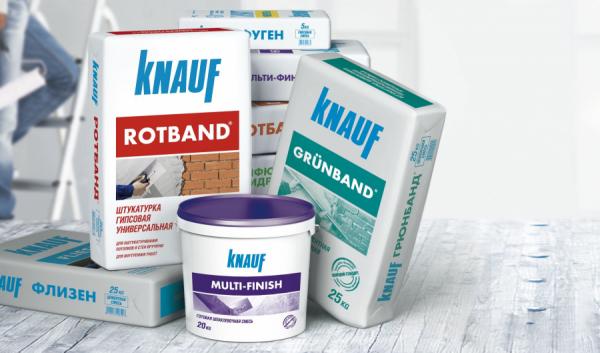 Штукатурка Кнауф — сфера применения, особенности создания смеси и нанесение на различные поверхности (100 фото)