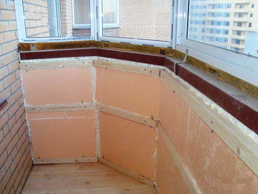 утепление балкона изнутри своими