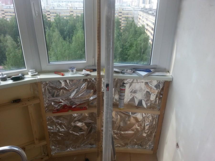 утепление балкона пенополистиролом