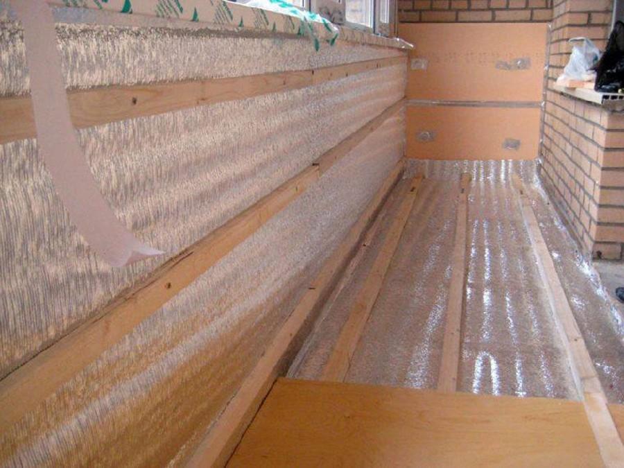 утепление балкона изнутри пеноплексом
