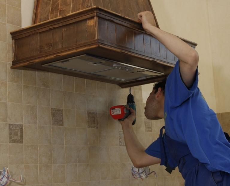 Как установить вытяжку на кухне своими руками фото 54
