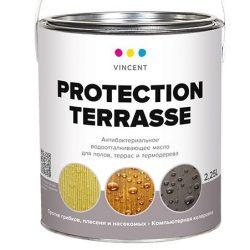 Масло VINCENT Protection Terrasse деревозащитное