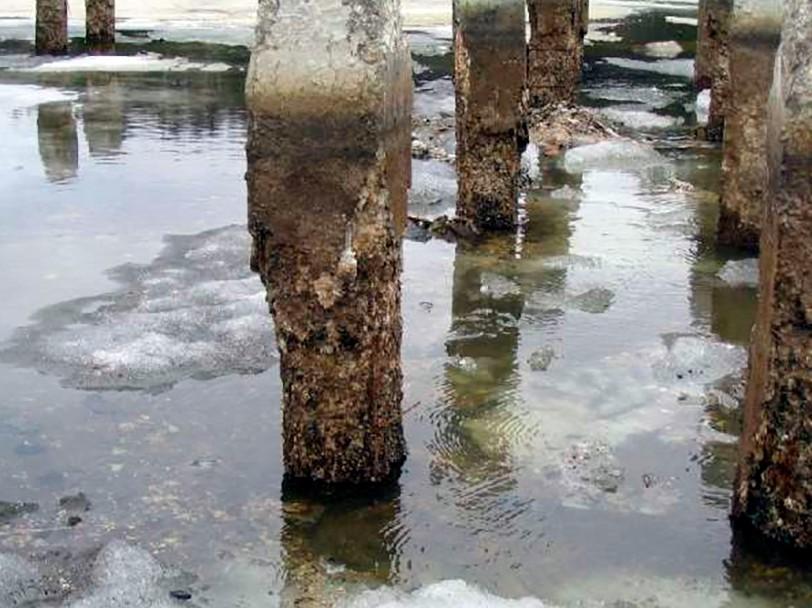 Воздействие воды на бетон