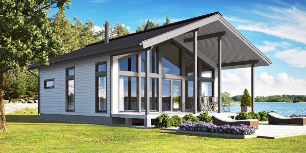 Каркасные дома с панорамными окнами