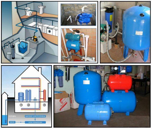 Гидроаккумуляторы для водоснабжения дома и дачи.