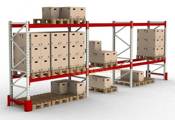 Оборудование для склада, стеллажи паллетные, особенности конструкции, фото.