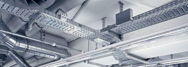 металлический кабельный лоток перфорированный