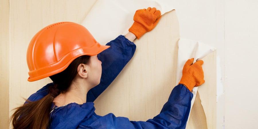 как снять остатки обоев со стен