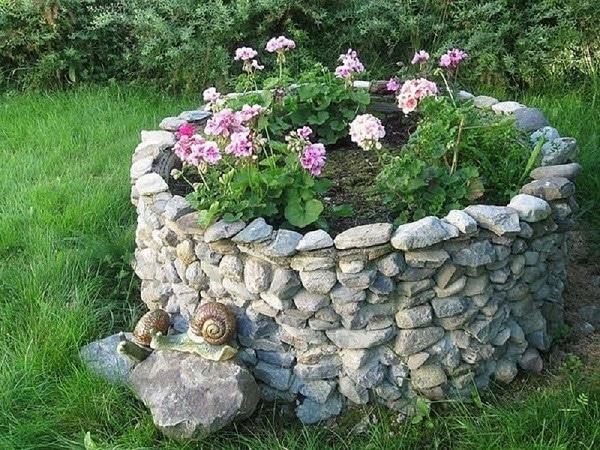 Цементный раствор для клумбы из камней бетон купить в руза