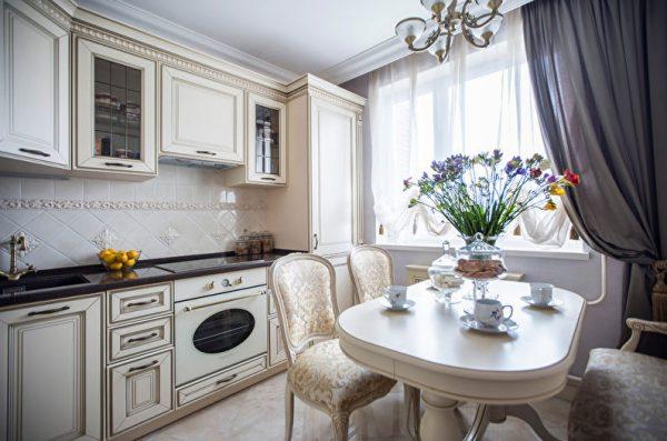 Современный интерьер кухни 10 кв. метров