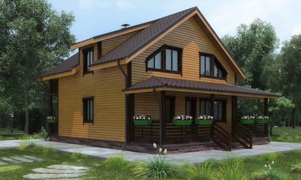 Проекты каркасных домов для круглогодичного проживания до 100 кв.м