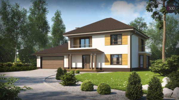 Проекты домов из газобетона с гаражом и мансардой до 150 кв.м