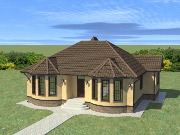 Проекты одноэтажных домов из кирпича до 150 кв.м