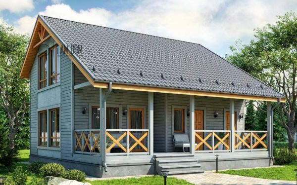 Проекты каркасных домов для круглогодичного проживания до 150 кв.м двухэтажные