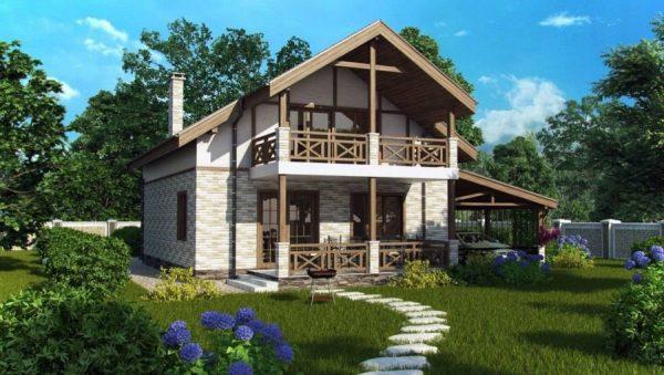 Проекты домов из кирпича для постоянного жилья