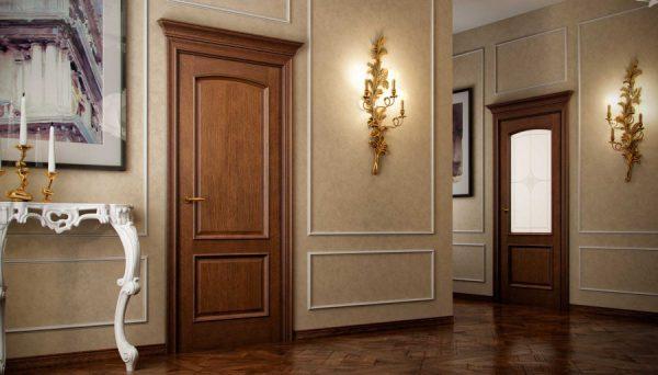 Межкомнатные двери из красного дерева